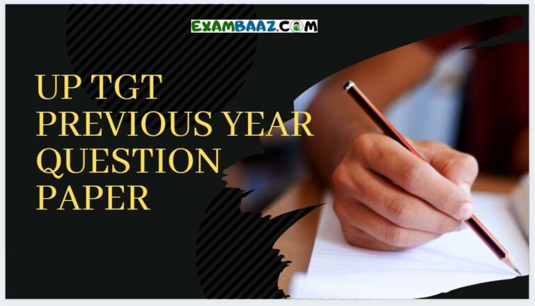 UP TGT old Question Papers