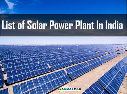 List of Solar Power Plant In India