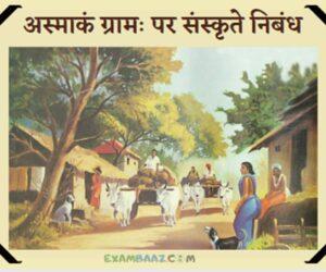अस्माकं ग्रामः पर संस्कृते निबंध | Essay on My Village In Sanskrit