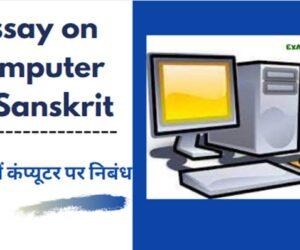 संस्कृत में कंप्यूटर पर निबंध | Essay on Computer In Sanskrit