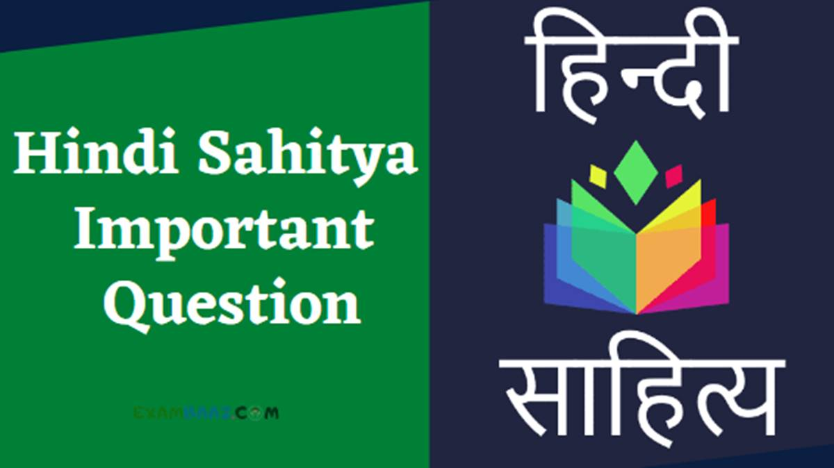 hindi sahitya important question